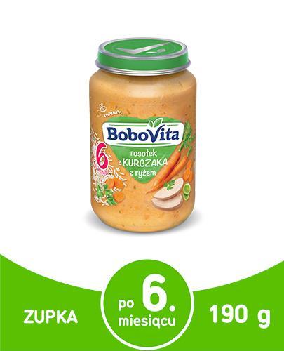 BOBOVITA Rosołek z kurczaka z ryżem po 6 m-cu - 190 g - Apteka internetowa Melissa