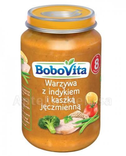 BOBOVITA Warzywa z indykiem i kaszką jęczmienną po 8 m-cu - 190 g - Apteka internetowa Melissa