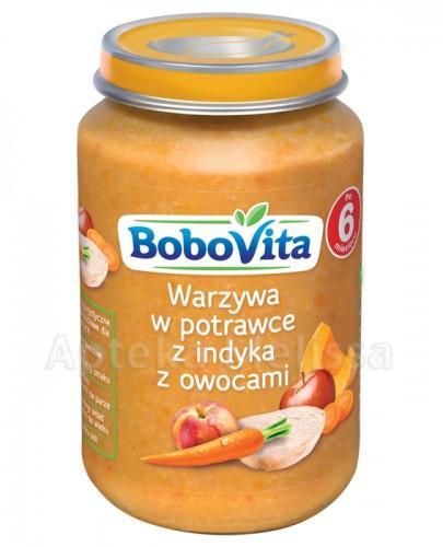 BOBOVITA Warzywa w potrawce z indyka z owocami po 6 m-cu - 190 g
