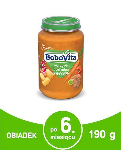 BOBOVITA Warzywa z delikatną wołowiną po 6 m-cu - 190 g - Apteka internetowa Melissa