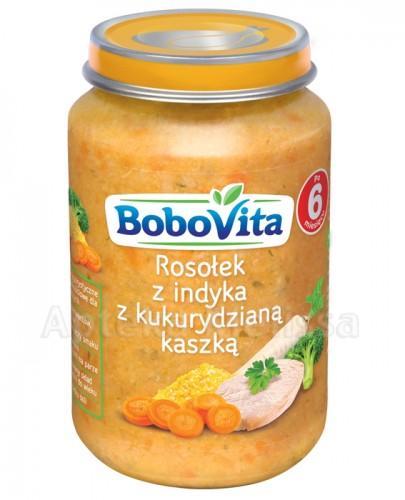 BOBOVITA Rosołek z indyka z kukurydzianą kaszką po 6 m-cu - 190 g