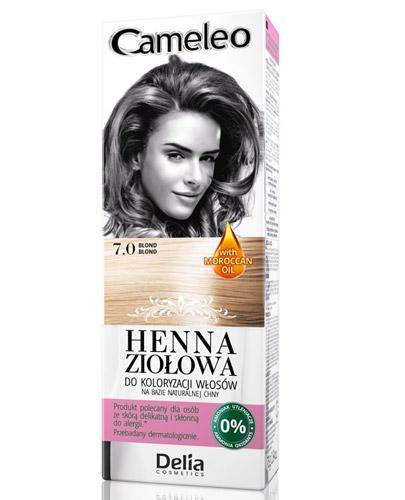 Cameleo Henna ziołowa do koloryzacji włosów Blond 7.0 - 75 g Farba do amoniaku - cena, opinie, stosowanie