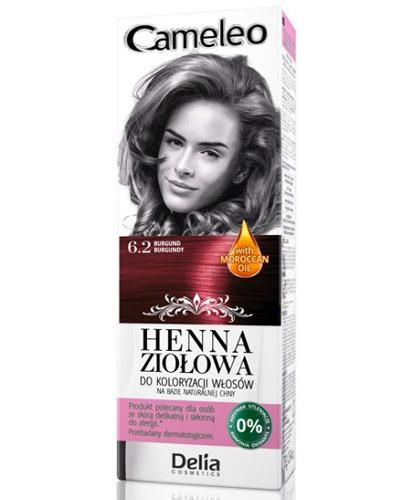 Cameleo Henna ziołowa do koloryzacji włosów Burgund 6.2 - 75 g Farba bez amoniaku - cena, opinie, stosowanie