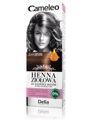 Cameleo Henna ziołowa do koloryzacji włosów Ciemny brąz 3.0 - 75 g Naturalna farba do włosów - cena, opinie, stosowanie