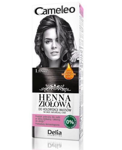 Cameleo Henna ziołowa do koloryzacji włosów Czerń 1.0 - 75 g - cena, opinie, stosowanie