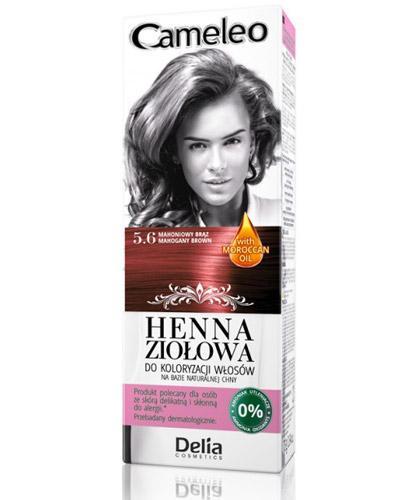 Cameleo Henna ziołowa do koloryzacji włosów Mahoniowy brąz 5.6 - 75 g - Farba bez amoniaku - cena, opinie, stosowanie