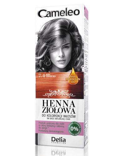 Cameleo Henna ziołowa do koloryzacji włosów Rudy 7.4 - 75 g Farba bez amoniaku - cena, opinie, stosowanie