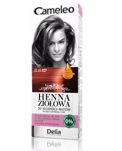 Cameleo Henna ziołowa do koloryzacji włosów Rubin 6.6 - 75 g Farba bez amoniaku - cena, opinie, stosowanie