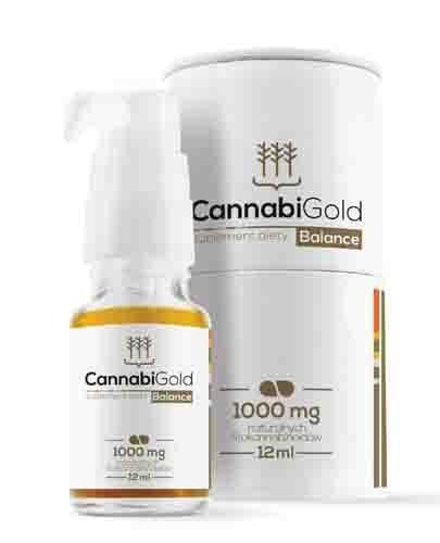 Cannabigold Balance 12 ml olejek CBD 1000 mg gwarantowane stężenie