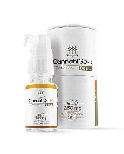 CannabiGold Basic 250 mg - 12 ml - cena, opinie, właściwości - Apteka internetowa Melissa