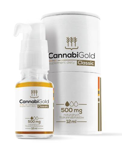 Cannabigold Classic 12 ml olejek CBD 500 mg gwarantowane stężenie