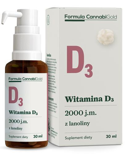 CannabiGold Formula Wit. D3 z lanoliny - 30 ml - cena, opinie, stosowanie - Apteka internetowa Melissa