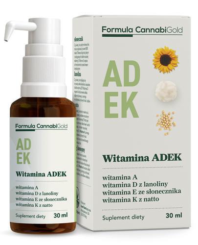 CannabiGold Formula Witamina ADEK - 30 ml - cena, opinie, właściwości - Apteka internetowa Melissa