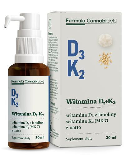 CannabiGold Formula Witamina D3 + K2 - 30 ml - cena, opinie, dawkowanie - Apteka internetowa Melissa