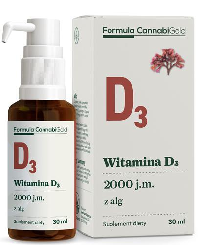 CannabiGold Formula Witamina D3 z alg - 30 ml - cena, opinie, wskazania - Apteka internetowa Melissa