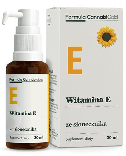 CannabiGold Formula Witamina E ze słonecznika - 30 ml - cena, opinie, wskazania - Apteka internetowa Melissa