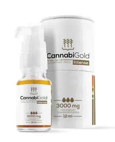 Cannabigold Intense 12 ml olejek CBD 3000 mg gwarantowane stężenie - Apteka internetowa Melissa