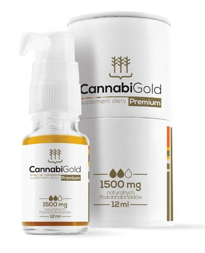 CannabiGold Premium Olejek CBD 1500 mg - 12 ml - Drogeria Melissa