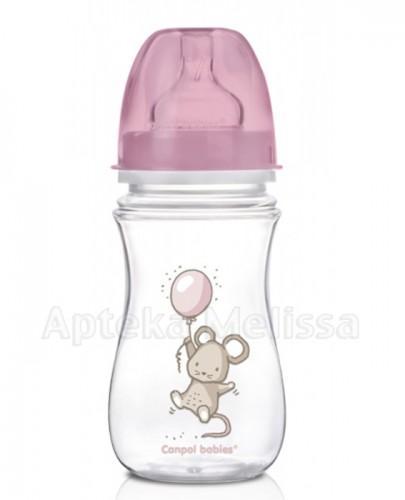 CANPOL EASY START LITTLE CUTIE Antykolkowa butelka szerokootworowa 35/219 3m+ - 240 ml - Apteka internetowa Melissa