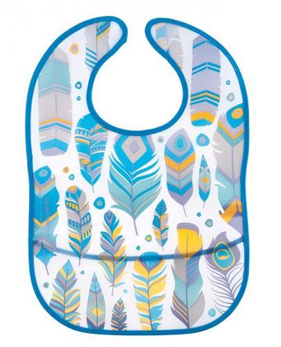 CANPOL BABIES Śliniak plastikowy z kieszonką piórka 9/234 - 1 szt. - Apteka internetowa Melissa