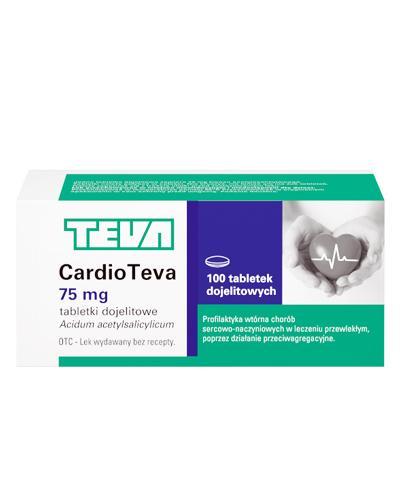 CARDIOTEVA 75 mg - 100 tabl. - cena, dawkowanie, opinie
