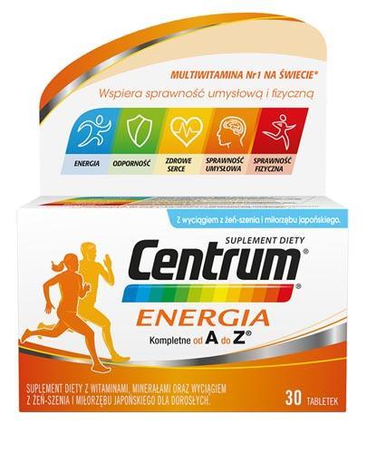 CENTRUM ENERGIA - 30 tabl. Data ważności: 2019.05.31 - Apteka internetowa Melissa