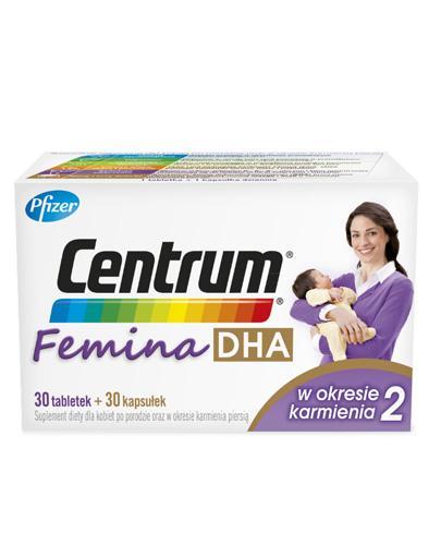 CENTRUM FEMINA DHA W okresie karmienia piersią 2 - 30 tabl. + 30 kaps. - cena, opinie, właściwości