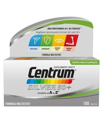 CENTRUM Silver 50+ Formuła Multiefekt - 100 tabl. - Apteka internetowa Melissa