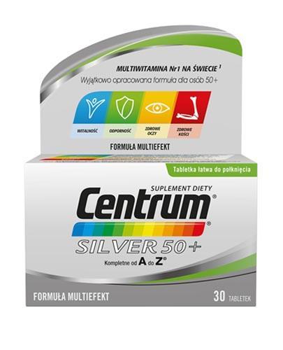 CENTRUM SILVER 50+ Formuła Multiefekt - 30 tabl. - Drogeria Melissa