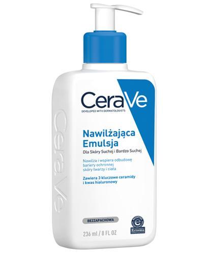 CERAVE Nawilżająca emulsja do twarzy i ciała do skóry suchej i bardzo suchej - 236 ml - cena, opinie, właściwości