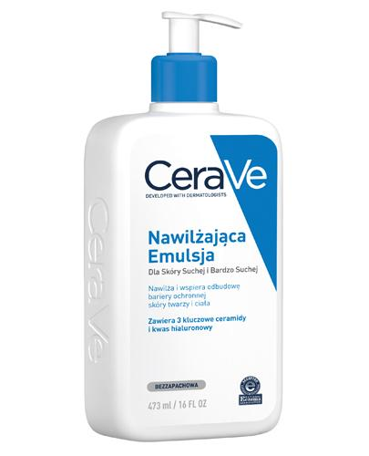 CERAVE Nawilżająca emulsja do twarzy i ciała do skóry suchej i bardzo suchej - 473 ml - cena, opinie, właściwości - Drogeria Melissa