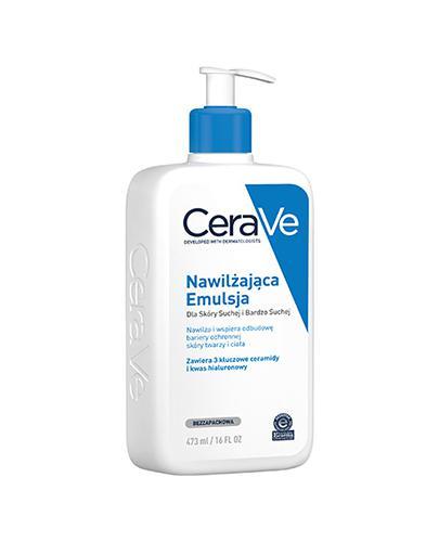 CERAVE Nawilżająca emulsja do twarzy i ciała do skóry suchej i bardzo suchej - 473 ml - cena, opinie, właściwości