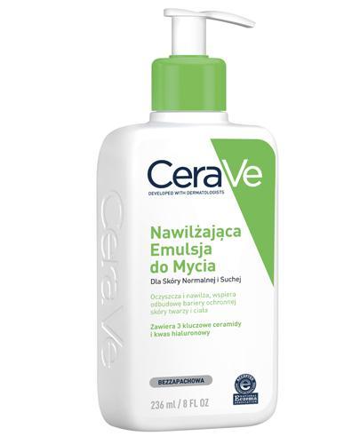 CERAVE Nawilżająca Emulsja do Mycia z ceramidami dla skóry suchej i bardzo suchej - 236 ml - cena, opinie, właściwości - Drogeria Melissa