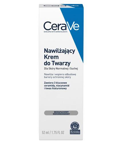 CERAVE Nawilżający Krem do Twarzy z ceramidami - 52 ml + Cerave Oczyszczający żel do mycia 88 ml - Drogeria Melissa