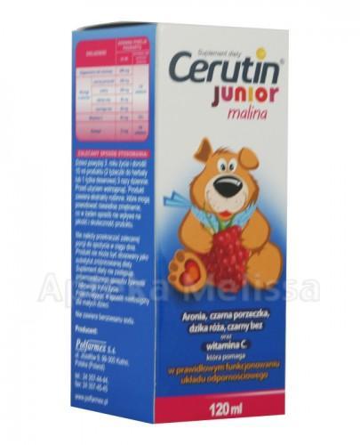 CERUVIT JUNIOR (CERUTIN) Syrop o smaku malinowym - 120 ml - Apteka internetowa Melissa