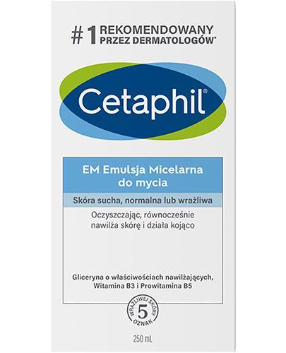 CETAPHIL EM - emulsja micelarna do mycia - 250 ml - cena, opinie, właściwości - Drogeria Melissa
