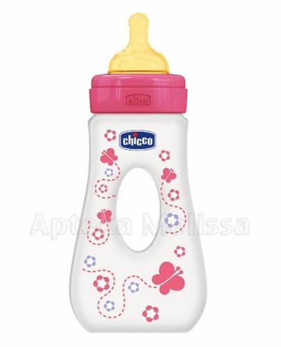 CHICCO Butelka z dziurką różowa 4m+ 240ml - 1 szt. - Apteka internetowa Melissa