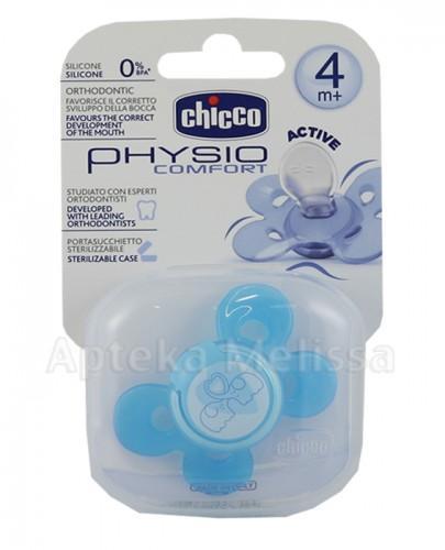 CHICCO PHYSIO COMFORT Smoczek silikonowy niebieski 4m+ - 1 szt.