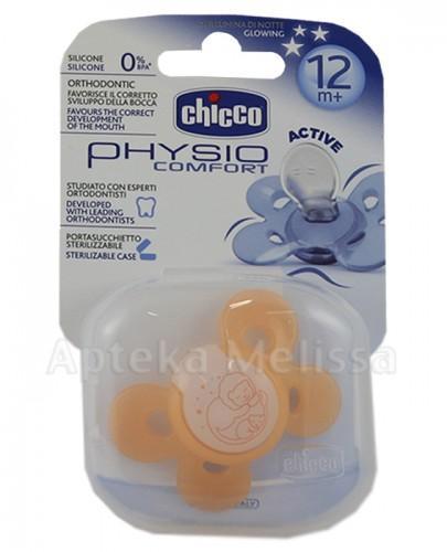 CHICCO PHYSIO COMFORT Smoczek silikonowy świecący w nocy pomarańczowy 12m+ - 1 szt. - Apteka internetowa Melissa