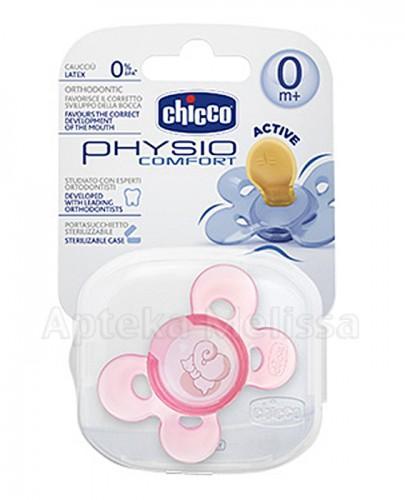 CHICCO PHYSIO COMFORT Smoczek silikonowy różowy 0m+ - 1 szt.