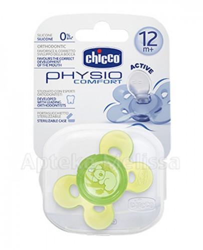 CHICCO PHYSIO COMFORT Smoczek silikonowy zielony 12m+ - 1 szt. - Apteka internetowa Melissa