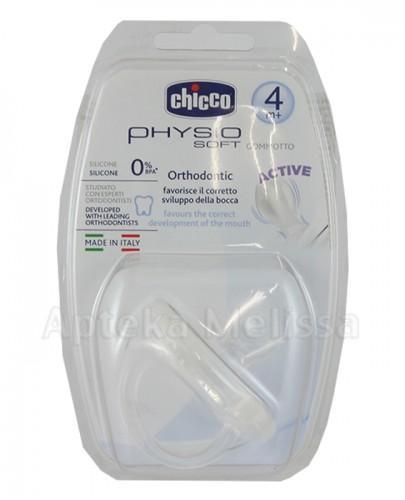 CHICCO PHYSIO SOFT Smoczek silikonowy biały 4m+ - 1 szt. - Apteka internetowa Melissa
