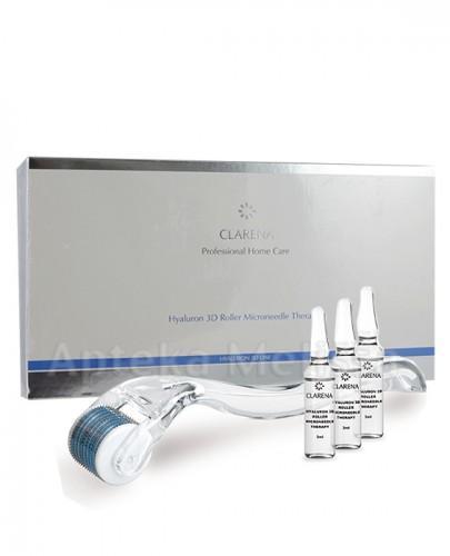 CLARENA HYALURON 3D LINE Domowa terapia mikroigłowa na bazie 3 rodzajów kwasu hialuronowego - 5 x 3 ml  - Apteka internetowa Melissa