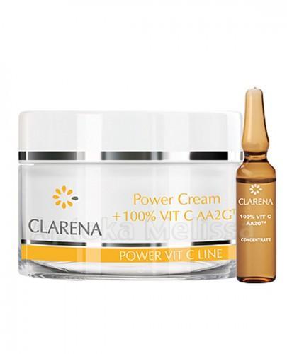CLARENA POWER PURE VIT C LINE Krem ze 100% aktywną witaminą C oraz ekstraktem z jedwabiu - 50 ml  - Apteka internetowa Melissa