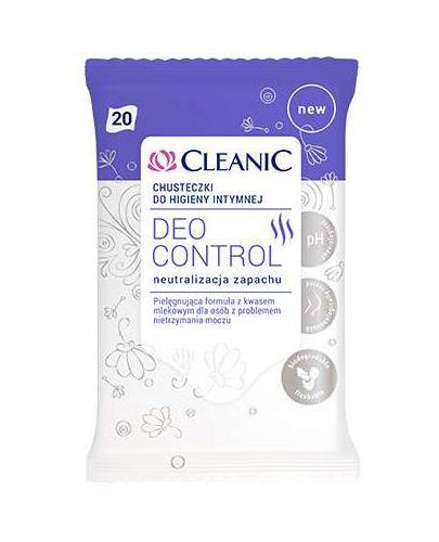 CLEANIC DEO CONTROL Chusteczki do higieny intymnej - 20 szt.