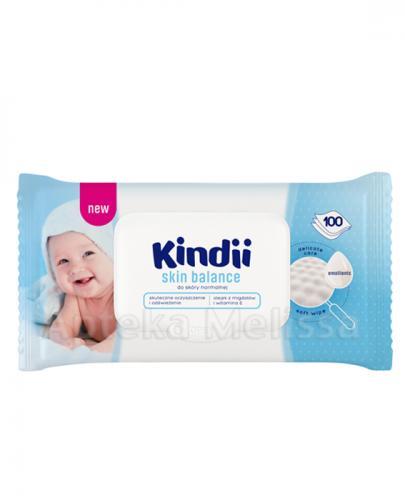 CLEANIC KINDII SKIN BALANCE Chusteczki do skóry normalnej - 100 szt.