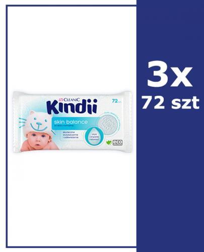 CLEANIC KINDII SKIN BALANCE Chusteczki do skóry normalnej - 3x72 szt.