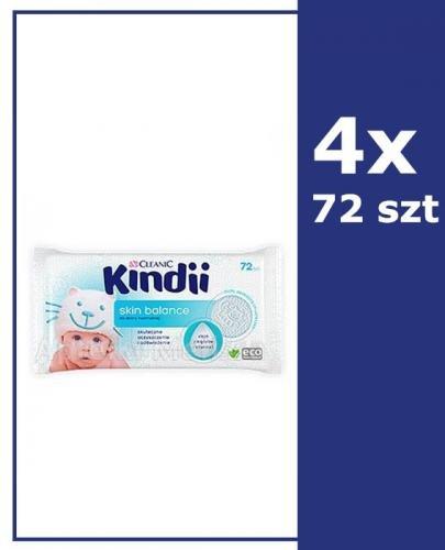 CLEANIC KINDII SKIN BALANCE Chusteczki do skóry normalnej - 4x72 szt.