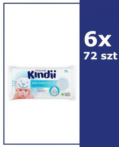 CLEANIC KINDII SKIN BALANCE Chusteczki do skóry normalnej - 6x72 szt. - Apteka internetowa Melissa