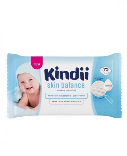 CLEANIC KINDII SKIN BALANCE Chusteczki do skóry normalnej - 72 szt.